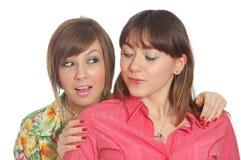 Parler de deux amis Image stock