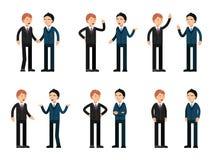 Parler de deux hommes d'affaires Positionnement du travail du vecteur characters illustration stock