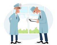 Parler de deux médecins illustration de vecteur