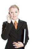 Parler de femme d'affaires photos libres de droits