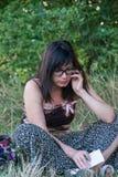 Parler de fille Photographie stock libre de droits