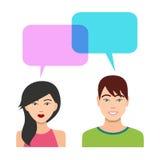Parler de garçons et de filles illustration de vecteur