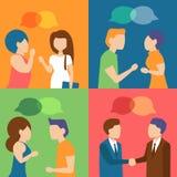 Parler de gens Se réunir, Image libre de droits