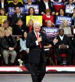 Parler de l'ancien Président Bill Clinton Photo libre de droits