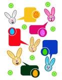 Parler de lapins de Pâques Images stock