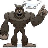 Parler de loup-garou de bande dessinée illustration stock