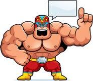 Parler de Luchador de bande dessinée illustration libre de droits