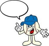 Parler de mascotte de dessin animé de base-ball Image libre de droits
