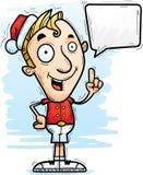 Parler de Noël Elf de bande dessinée illustration de vecteur