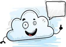 Parler de nuage de bande dessinée illustration de vecteur