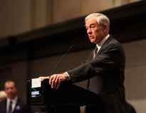 Parler de Ron Paul Photos stock