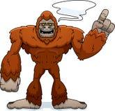 Parler de Sasquatch de bande dessinée illustration stock