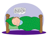 Parler de sommeil Image libre de droits