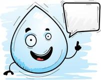 Parler de Waterdrop de bande dessinée illustration libre de droits