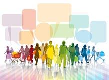 Parler et faire des emplettes Image libre de droits