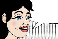 Parler haut étroit de fille Photo libre de droits