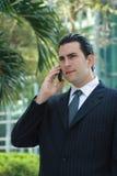 Parler latin beau d'homme d'affaires Photos stock