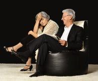 Parler mûr de couples Photo libre de droits