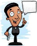 Parler noir d'espion de bande dessinée illustration stock