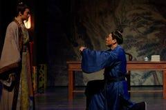 Parlez dans l'acte d'excitation-Le en second lieu : la nuit du l'armée-grand drame historique, ` Yangming ` de trois nuits photos libres de droits