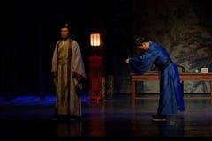Parlez dans l'acte d'excitation-Le en second lieu : la nuit du l'armée-grand drame historique, ` Yangming ` de trois nuits photographie stock libre de droits