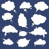 Parlez les bulles de nuage réglées Images libres de droits