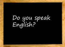 Parlez-vous anglais ? Photographie stock libre de droits