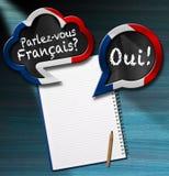 Parlez-vous Francais - bolhas do discurso Fotografia de Stock Royalty Free