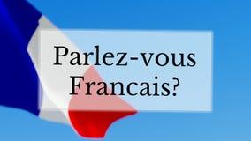 Parlez-Vous Francais/u spreekt het Frans royalty-vrije illustratie