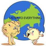 Parli ed ascolti per stimolare il cervello Immagine Stock Libera da Diritti