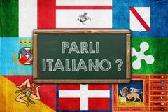 Parli Italiano stock illustratie