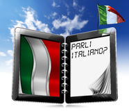 Parli Italiano? - Tablet Computer Stock Images