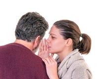Parli nell'orecchio Fotografia Stock