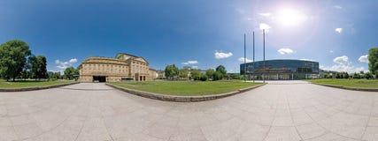 Parliamant und der Oper Panorama Stuttgarts, lizenzfreies stockbild