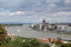 Parliament. Over the river, Hungary, Budapest Royalty Free Stock Photography