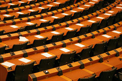 The Parliament. European Parliament Building with empty seats.Brussels Stock Image
