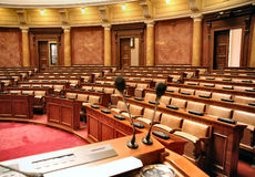 Parliament. Debate ary speech bussines congress Stock Photos
