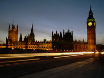 Parliament. Houses of Parliament at night, using a long exposure Stock Photography