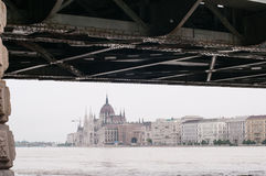 Parliament above the Flood, Budapest Stock Image