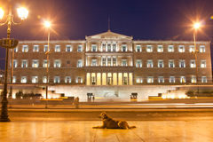 The Parliament in Athens Royalty Free Stock Photography