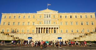 Parliament in Athens Stock Photo