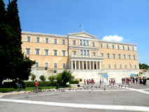 Parliament of Athens, Greece. Stock Image