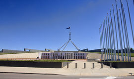 Parliament of Australia Building in Canberra Royalty Free Stock Photos