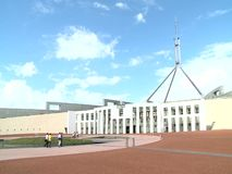 Parliament of Australia in Canberra stock footage