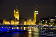 The Parliament, Big Ben and the River Thames Stock Images