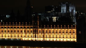 Parliament and big ben tilt up and zoom out stock video footage