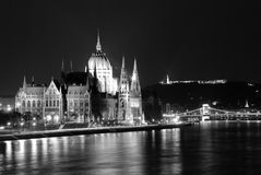 The Parliament-black and white royalty free stock image
