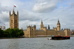 Parliament with Boat Royalty Free Stock Photo