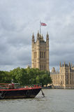 Parliament with boat Royalty Free Stock Image