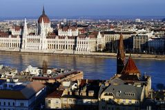 The Parliament in Budapest. Royalty Free Stock Images